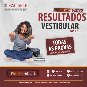 RESULTADO FINAL PROCESSO DE VESTIBULAR 2019.1